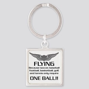 Flying-USArmy Square Keychain