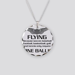 Flying-USArmy Necklace Circle Charm