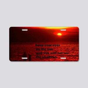 Sunset Darwin beach23x35 Aluminum License Plate