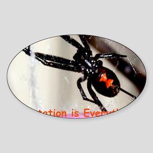 Black Widow greeting Sticker (Oval)