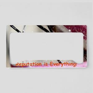 Black Widow greeting License Plate Holder