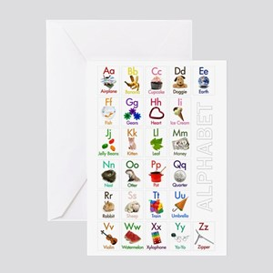 ABCs23x35_poster Greeting Card