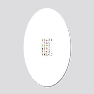 ABCs23x35_poster 20x12 Oval Wall Decal