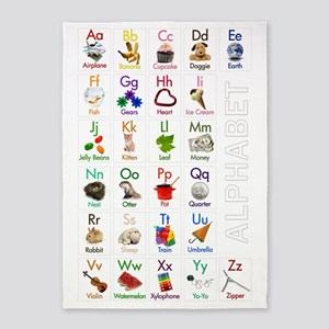 ABCs23x35_poster 5'x7'Area Rug