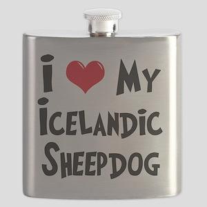 I-Love-My-Icelandic-Sheepdog Flask