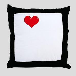 I-Love-My-Bulldog-dark Throw Pillow