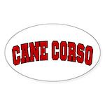 Cane Corso Red Sticker (Oval)