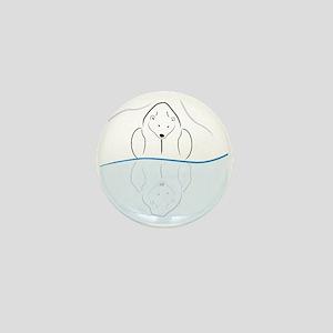 Polar Bear Reflection Mini Button