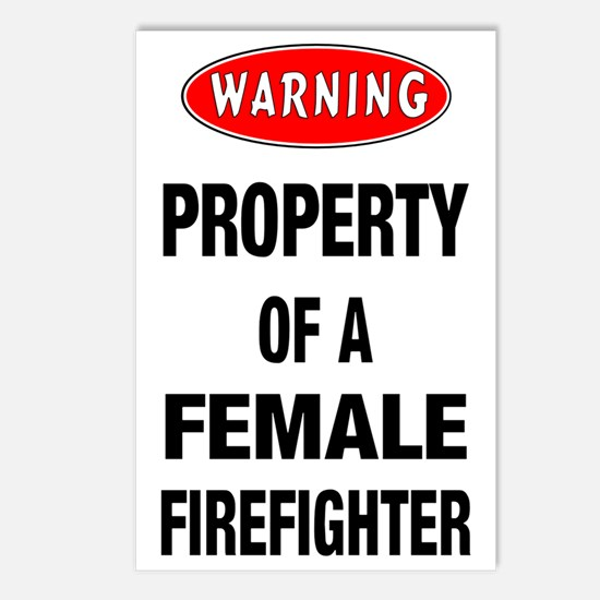 Female Firefighter Proper Postcards (Package of 8)