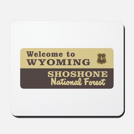 Welcome to Wyoming - USA Mousepad
