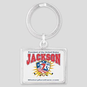 President Andrew Jackson Landscape Keychain