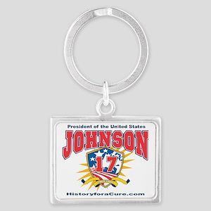 President Andrew Johnson Landscape Keychain