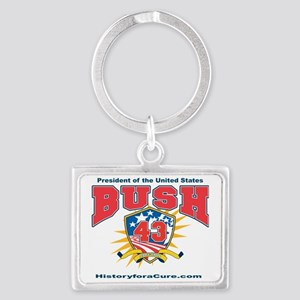 President George W Bush.43 Landscape Keychain