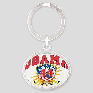 President Barack Obama dark shirt Oval Keychain