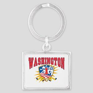 President George Washington dar Landscape Keychain