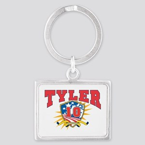 President John Tyler dark shirt Landscape Keychain
