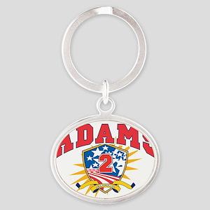 President John Adams dark shirt Oval Keychain