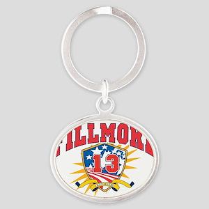 President Millard Fillmore dark shir Oval Keychain