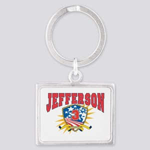 President Thomas Jefferson dark Landscape Keychain