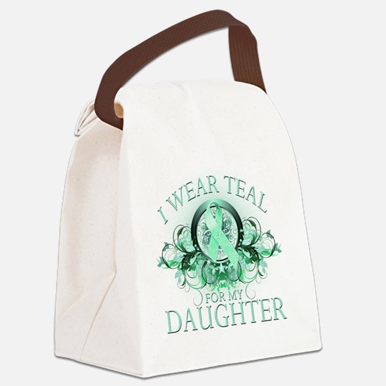 I Wear Teal for my Daughter (flor Canvas Lunch Bag