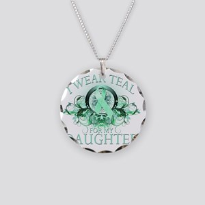 I Wear Teal for my Daughter  Necklace Circle Charm
