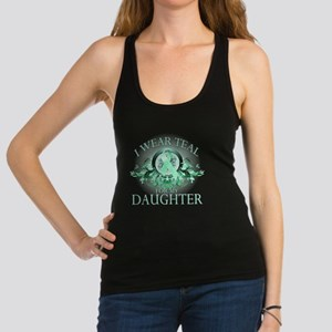 I Wear Teal for my Daughter (fl Racerback Tank Top