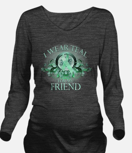 I Wear Teal for my F Long Sleeve Maternity T-Shirt