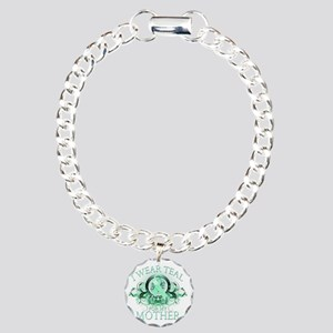I Wear Teal for my Mothe Charm Bracelet, One Charm
