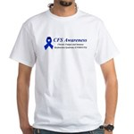 CFS Awareness blue ribbon White T-Shirt