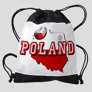 Polish Flag Map Drawstring Bag