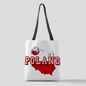 Polish Flag Map Polyester Tote Bag