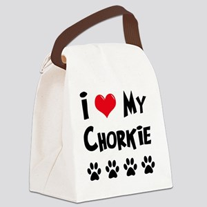 I-Love-My-Chorkie Canvas Lunch Bag