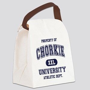 Chorkie-University Canvas Lunch Bag