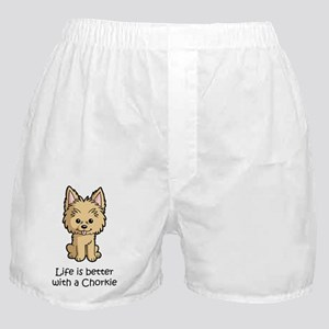 Life-is-better-with-a-Chorkie Boxer Shorts