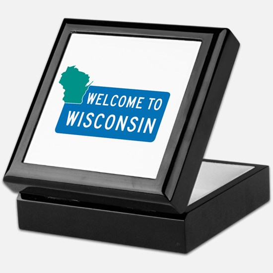 Welcome to Wisconsin - USA Keepsake Box