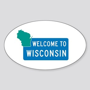 Welcome to Wisconsin - USA Oval Sticker