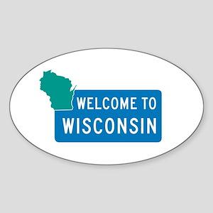 Welcome to Wisconsin - USA Oval Sticker