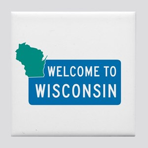 Welcome to Wisconsin - USA Tile Coaster