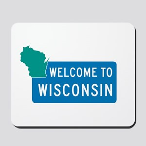 Welcome to Wisconsin - USA Mousepad