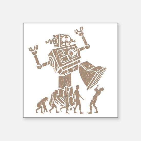 """2-robotV2 Square Sticker 3"""" x 3"""""""