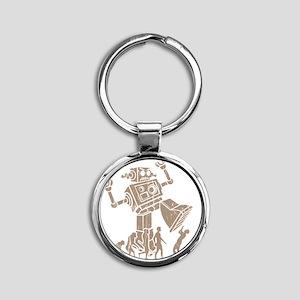 2-robotV2 Round Keychain