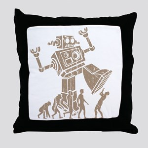2-robotV2 Throw Pillow