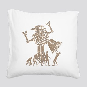 2-robotV2 Square Canvas Pillow