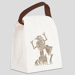 2-robotV2 Canvas Lunch Bag
