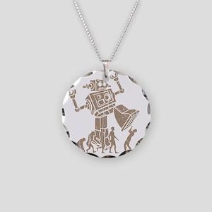 2-robotV2 Necklace Circle Charm