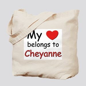 My heart belongs to cheyanne Tote Bag