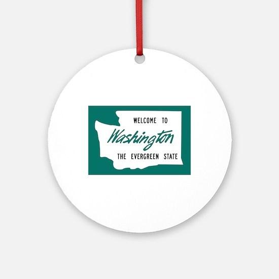 Welcome to Washington - USA Ornament (Round)