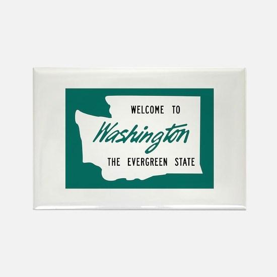 Welcome to Washington - USA Rectangle Magnet