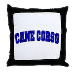 Cane Corso Blue Throw Pillow