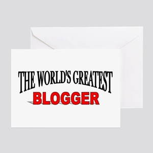 """""""The World's Greatest Blogger"""" Greeting Cards (Pac"""